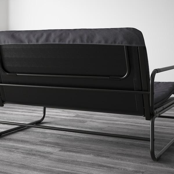 HAMMARN Slaapbank, Knisa donkergrijs/zwart, 120 cm