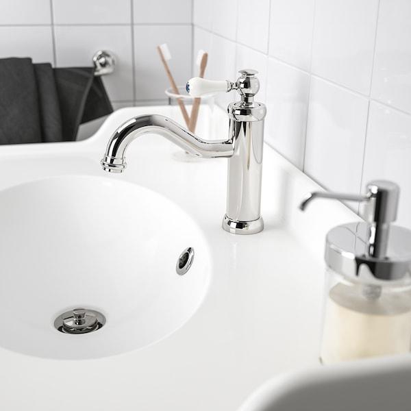 HAMNSKÄR Wastafelmengkraan & bodemventiel, verchroomd
