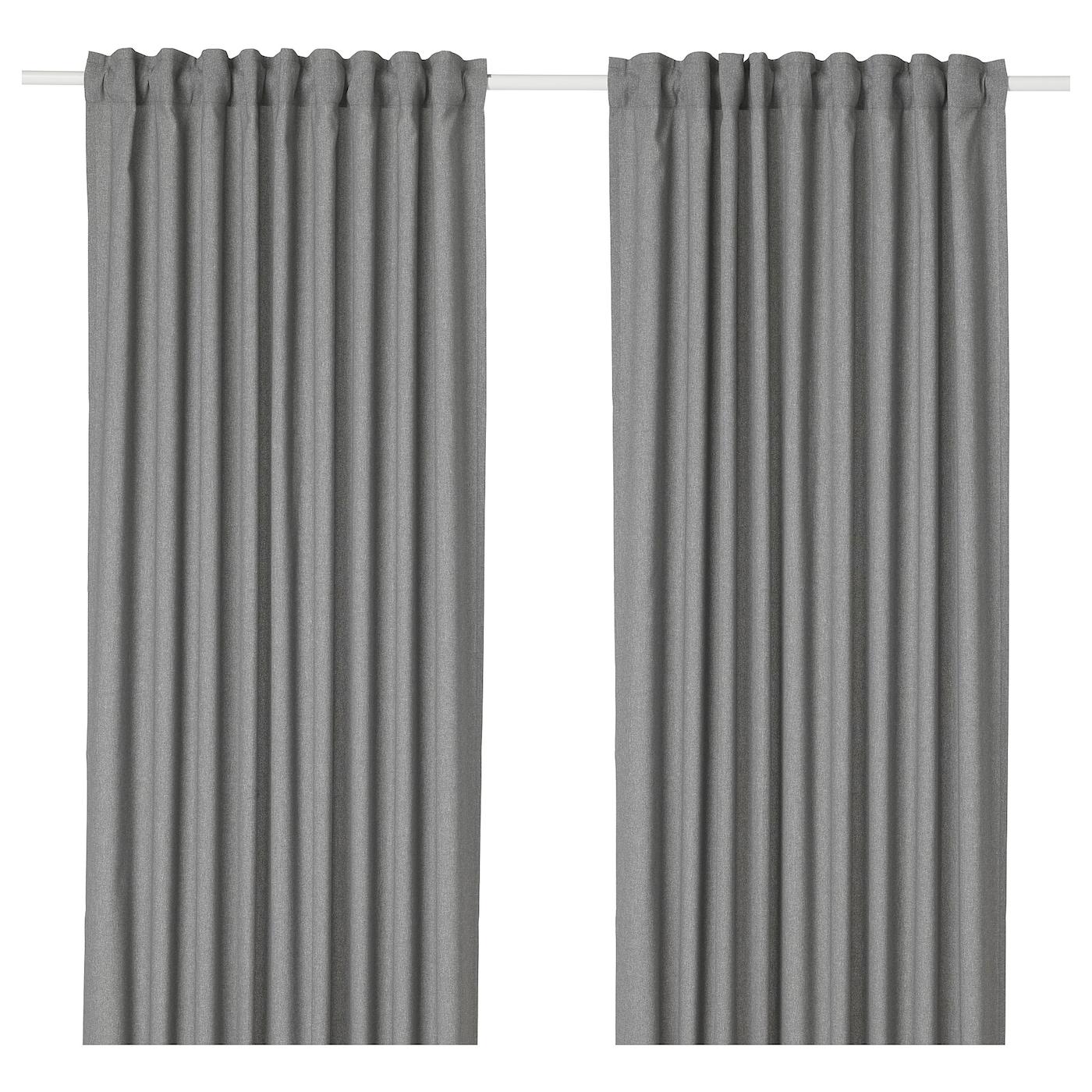 HANNALENA Gordijnen, 1 paar Grijs 145 x 300 cm - IKEA