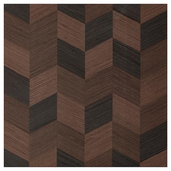 HASSLARP Deur, bruin met een patroon, 60x60 cm