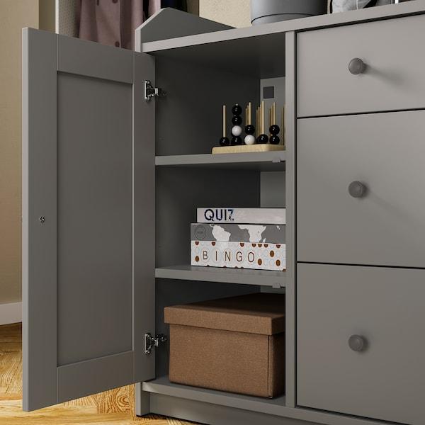 HAUGA Buffetkast, grijs, 140x84 cm