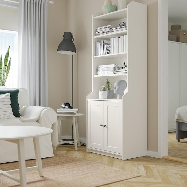 HAUGA Hoge kast met 2 deuren, wit, 70x199 cm