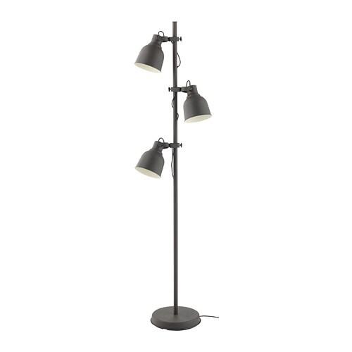 hektar staande lamp met 3 spots donkergrijs ikea. Black Bedroom Furniture Sets. Home Design Ideas