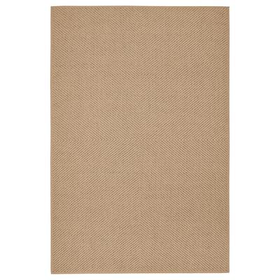 HELLESTED vloerkleed, glad geweven naturel/bruin 300 cm 200 cm 8 mm 6.00 m² 2570 g/m²