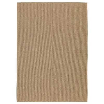 HELLESTED Vloerkleed, glad geweven, naturel/bruin, 170x240 cm