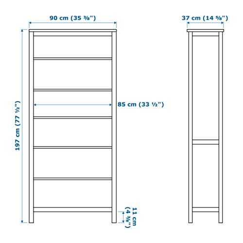 HEMNES Boekenkast Witgebeitst 90x197 cm - IKEA