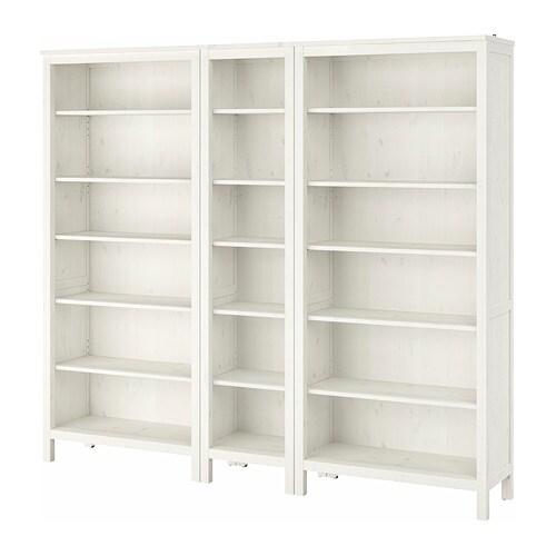 HEMNES Boekenkast Witgebeitst 229 x 197 cm - IKEA