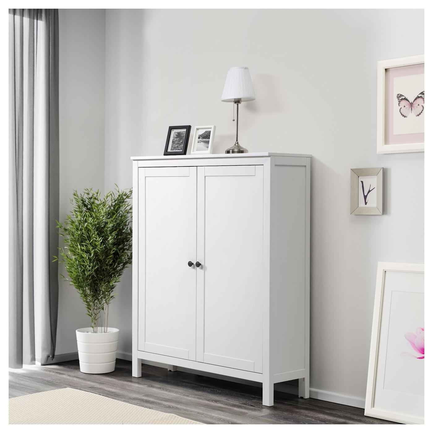 HEMNES Kast met 2 deuren Witgebeitst 99 x 130 cm IKEA