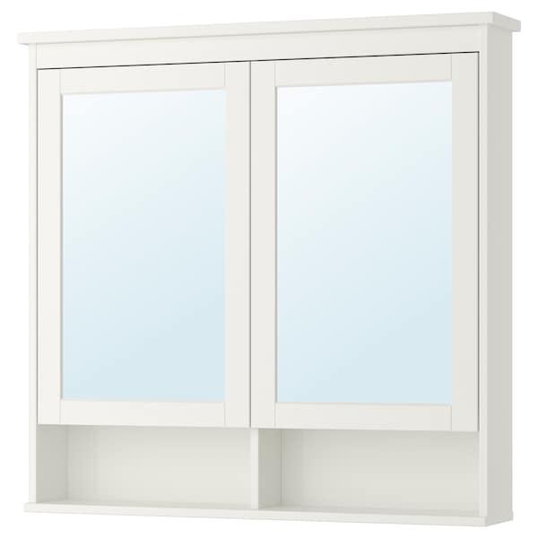 HEMNES Spiegelkast met 2 deuren, wit, 103x16x98 cm
