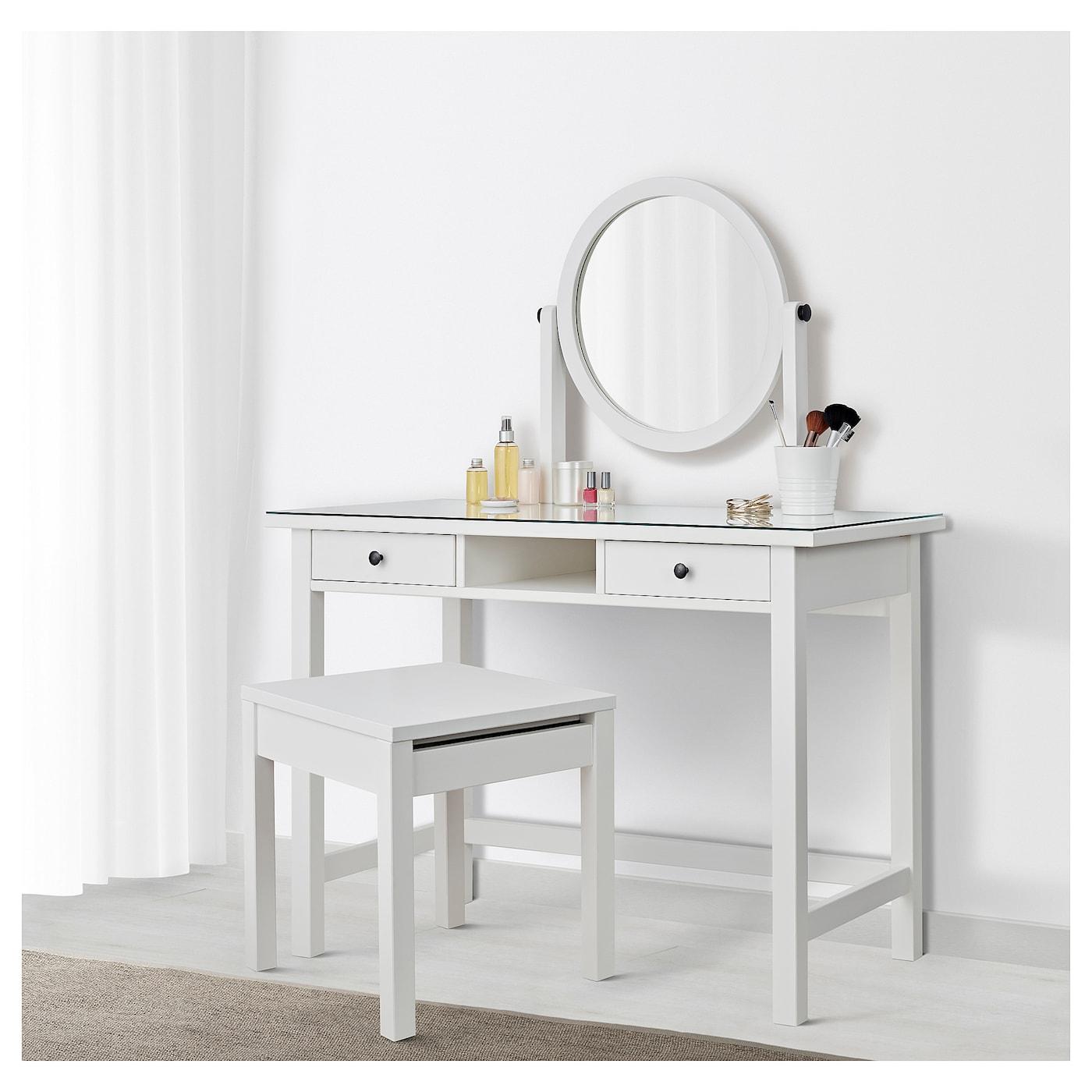 Toilettafel Met Spiegel.Hemnes Toilettafel Met Spiegel Wit Gebeitst 110 X 45 Cm Ikea