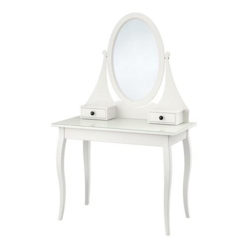 Hemnes toilettafel met spiegel ikea for Bureau 100x50