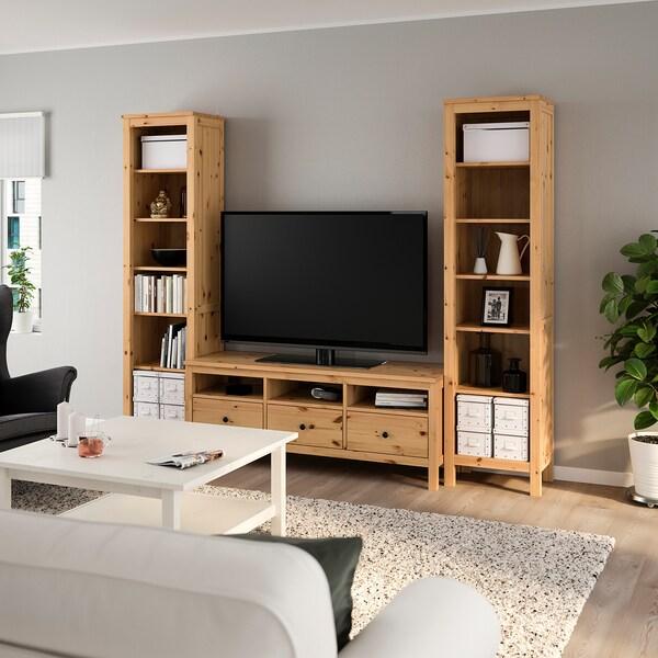Tv Kast Hemnes Ikea.Hemnes Tv Meubel Combi Lichtbruin Ikea