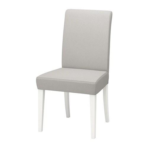 HENRIKSDAL Eetkamerstoel   Orrsta lichtgrijs, wit   IKEA
