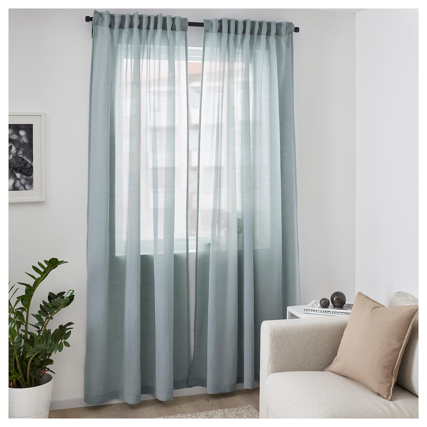 HILJA Gordijnen, 1 paar Blauw 145 x 300 cm - IKEA