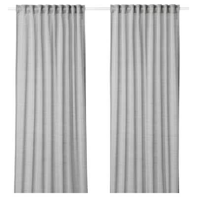 HILJA Gordijnen, 1 paar, grijs, 145x300 cm