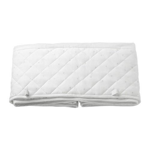 Baby Bed Beschermer.Himmelsk Babybedbeschermer Wit Grijs 120 X 60 Cm Ikea