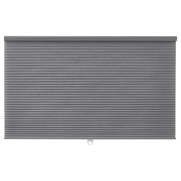 HOPPVALS Plisségordijn, dubbel, grijs, 100x210 cm