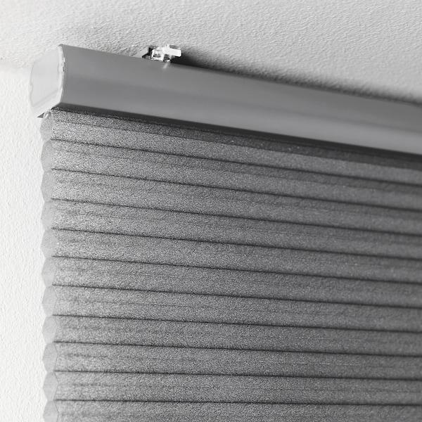 HOPPVALS Plisségordijn, dubbel, grijs, 140x210 cm