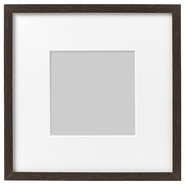 HOVSTA Fotolijst, donkerbruin, 23x23 cm