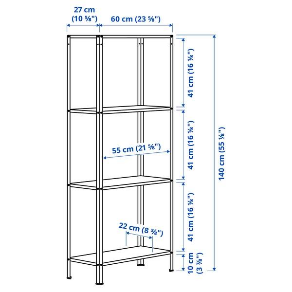 HYLLIS Stellingkast, binnen/buiten, 60x27x140 cm