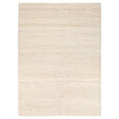 IBSKER vloerkleed handgemaakt ecru 240 cm 170 cm 4.08 m²
