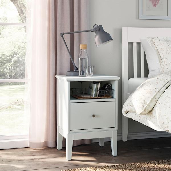 IDANÄS Nachtkastje, wit, 47x40 cm