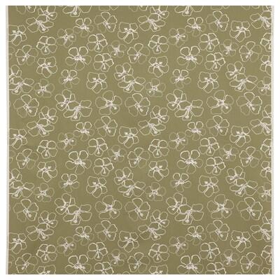 IDASARA Stof, groen naturel/bloem, 150 cm