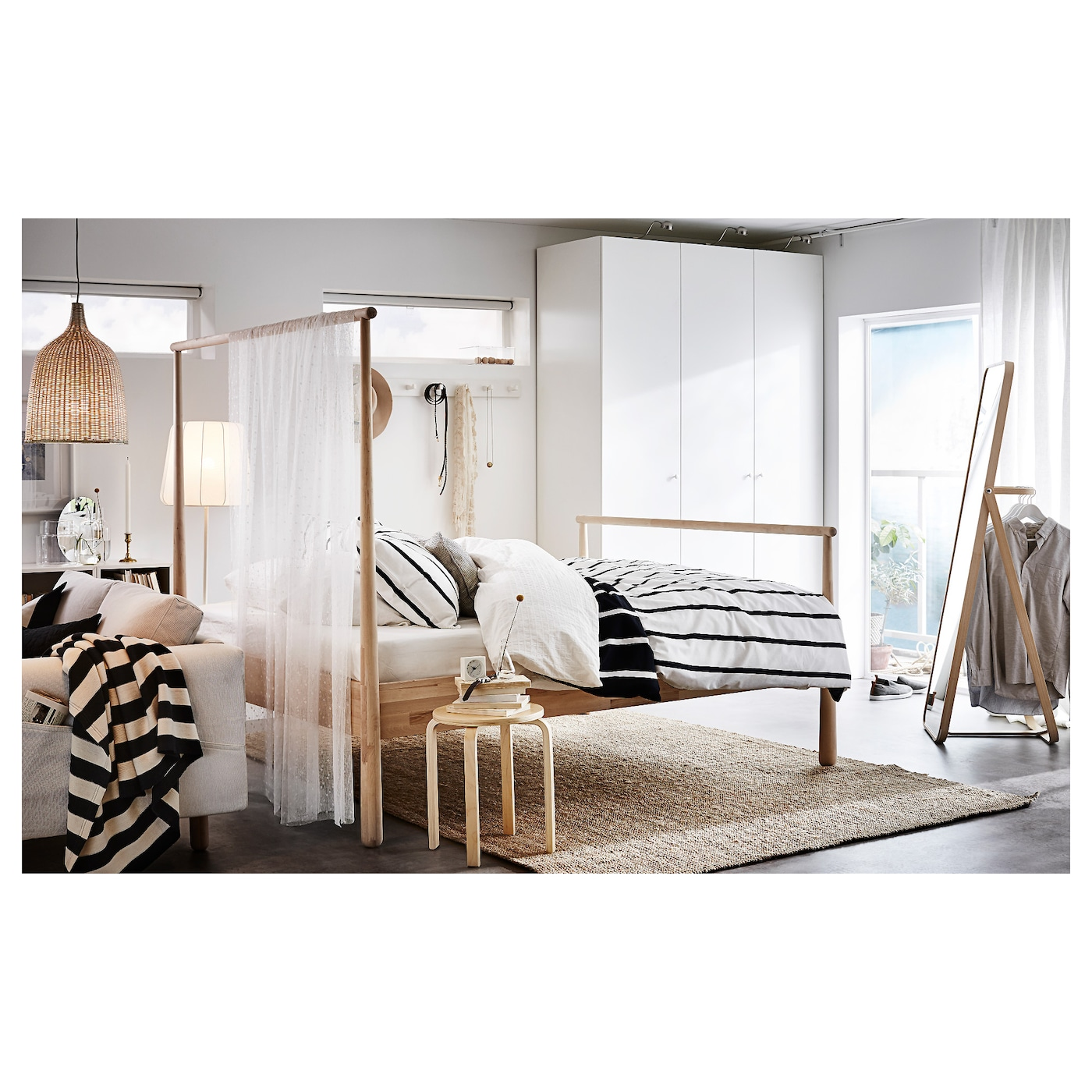ikornnes staande spiegel essen 52 x 167 cm ikea. Black Bedroom Furniture Sets. Home Design Ideas