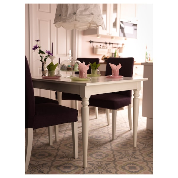 INGATORP uitschuifbare tafel wit 155 cm 215 cm 87 cm 74 cm