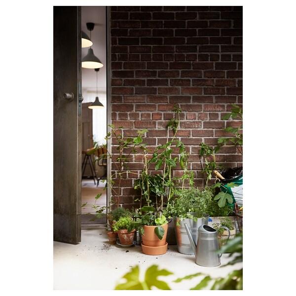 INGEFÄRA Bloempot met schotel, buiten/terracotta, 15 cm