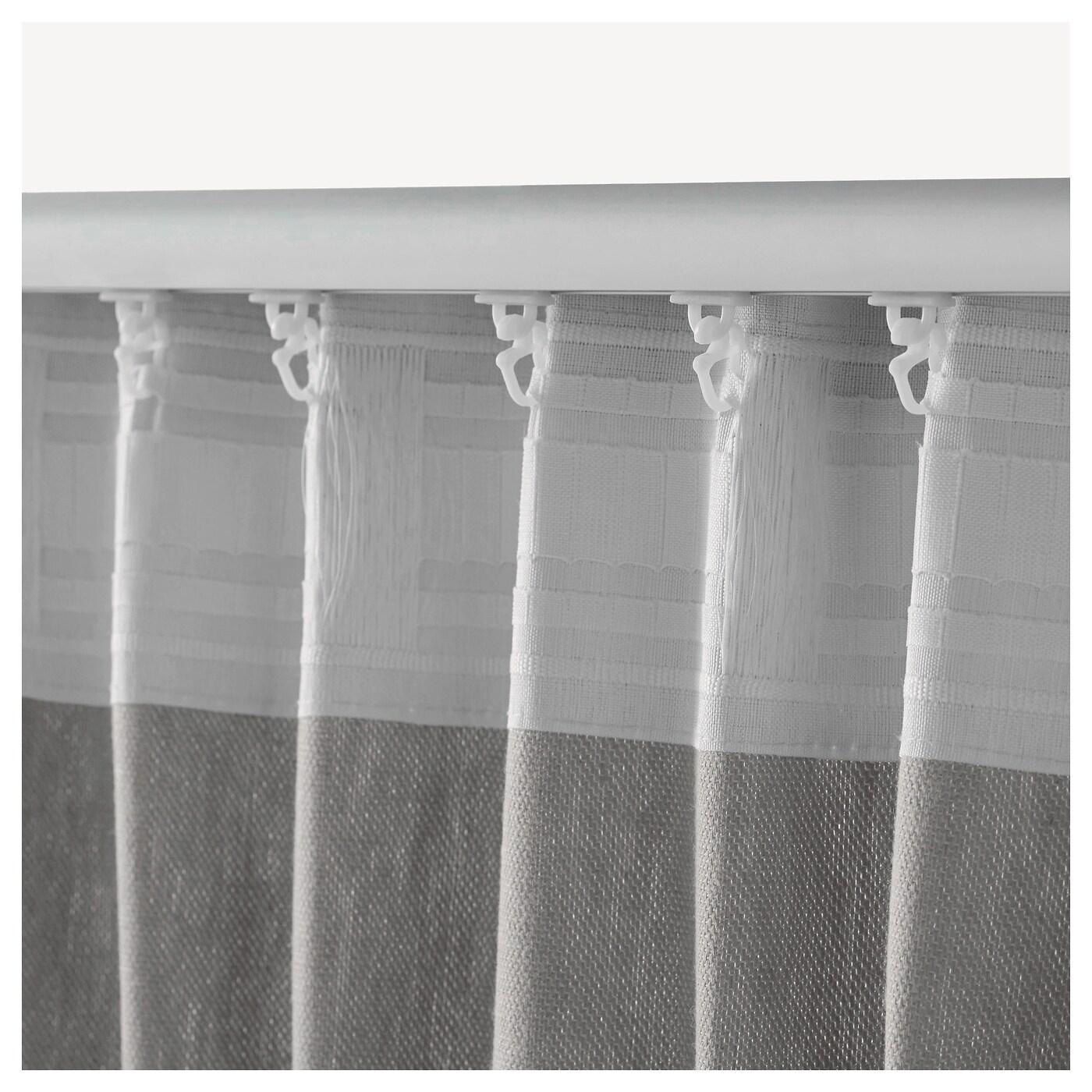 INGERT Gordijnen met embrasse, 1 paar Grijs 145 x 300 cm - IKEA