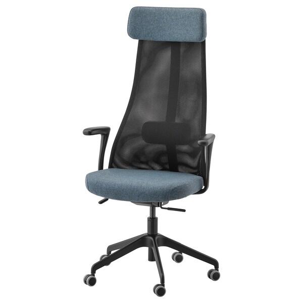 Ikea Bureaustoel Kind Wit.Bureaustoel Met Armleuningen Jarvfjallet Gunnared Blauw Zwart