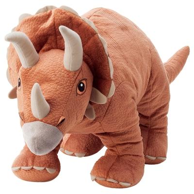 JÄTTELIK Pluchen speelgoed, dinosaurus/dinosaurus/triceratops, 69 cm