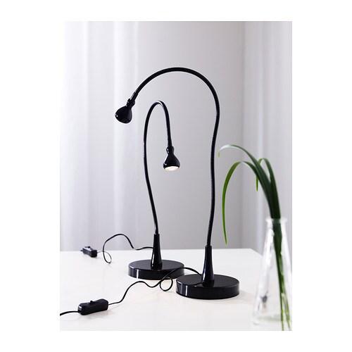 jansjà led bureaulamp zilverkleur ikea
