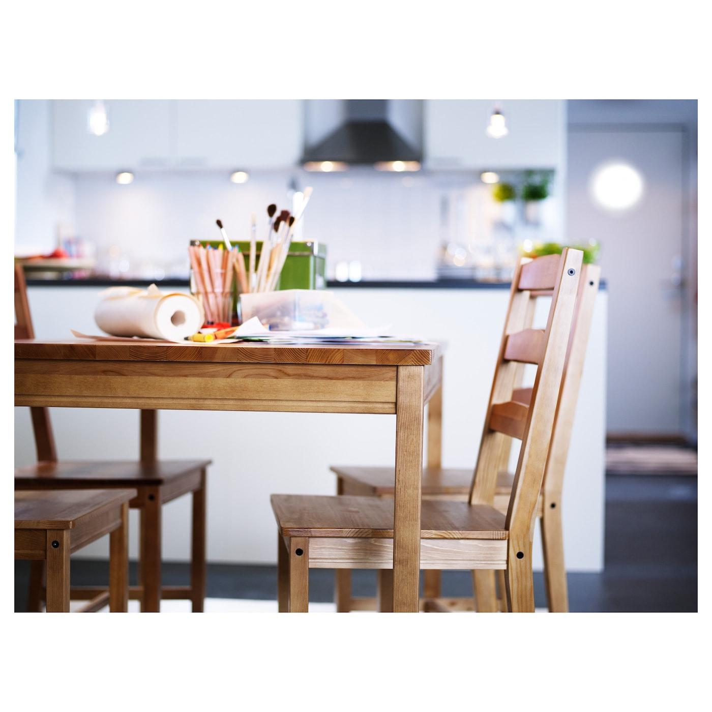 Jokkmokk tafel en 4 stoelen antiekbeits ikea for Ikea kinderstoel en tafel
