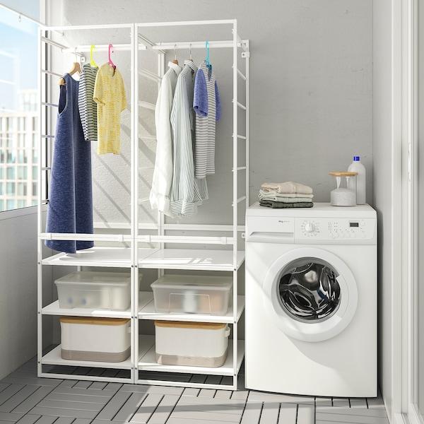 JONAXEL Rek met kledingroede, wit, 99x51x173 cm