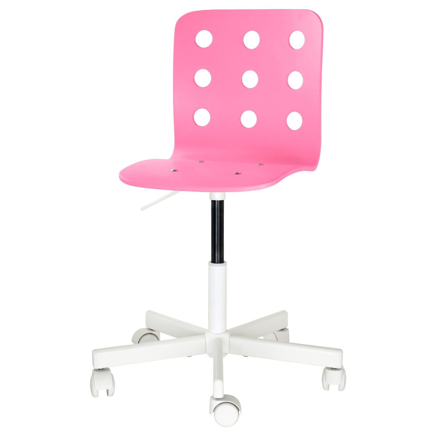 Bureaustoel Kind Roze.Jules Kinderbureaustoel Roze Wit Ikea