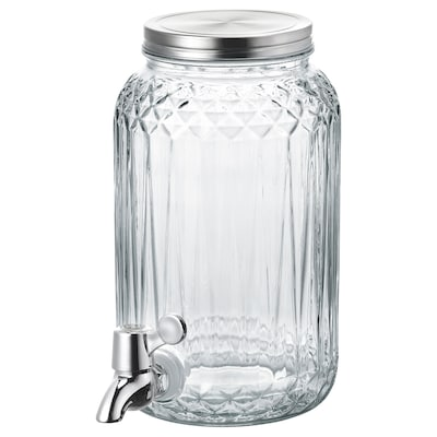 KALASFINT vat met tapkraan helder glas 25 cm 15 cm 3 l