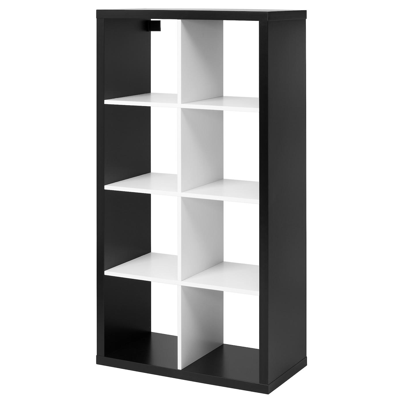 KALLAX Open kast Zwart/wit 77x147 cm - IKEA