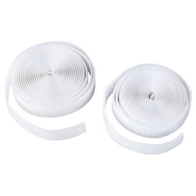 KARDBORRE Klittenband, opstrijkbaar, wit