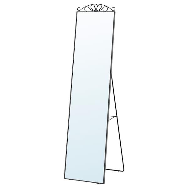 KARMSUND Staande spiegel, zwart, 40x167 cm