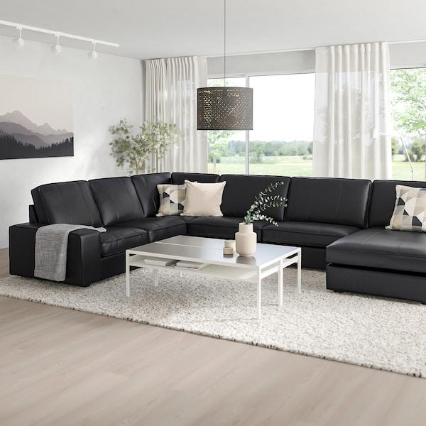 Hoekbank Zwart Leer Ikea.Hoekbank 6 Zits Kivik Grann Met Chaise Longue Bomstad Grann Bomstad Zwart