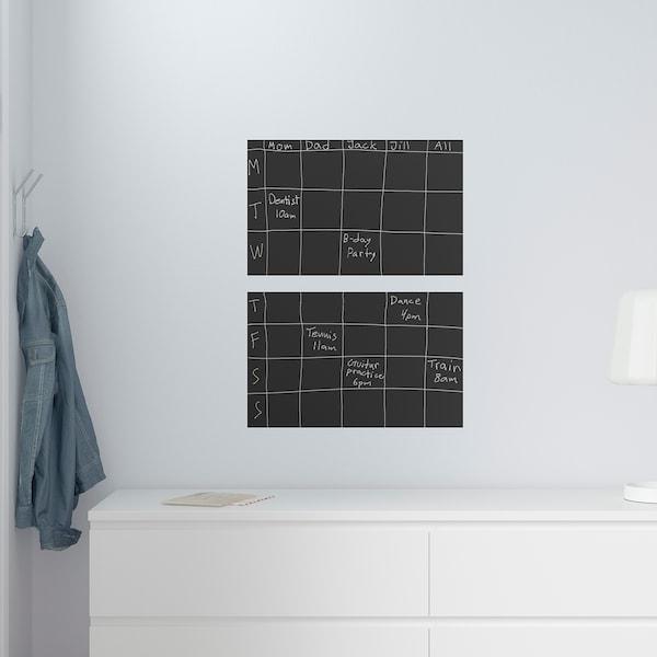KLÄTTA zelfklevende decoratie krijtbord 50 cm 35 cm 2 st.
