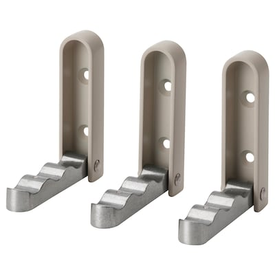KLYKET Haak, opklapbaar, aluminium/beige