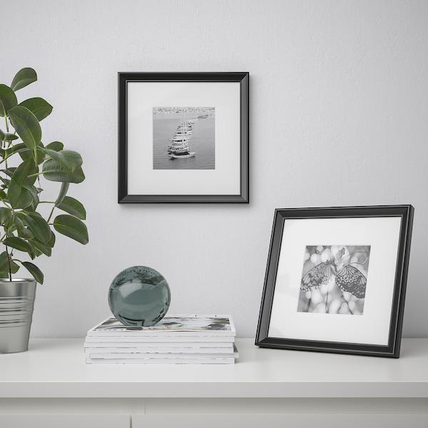 KNOPPÄNG Fotolijst, zwart, 23x23 cm