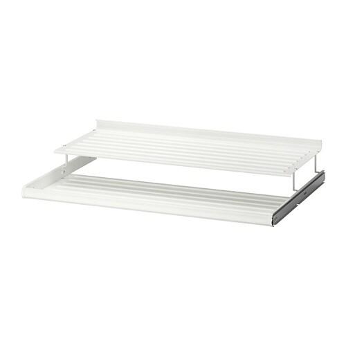 Schoenenrek 60 Cm.Komplement Uittrekbaar Schoenenrek Wit 100 X 58 Cm Ikea