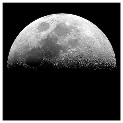 KOPPARFALL Afbeelding zonder lijst, Maanlandschap, 49x49 cm