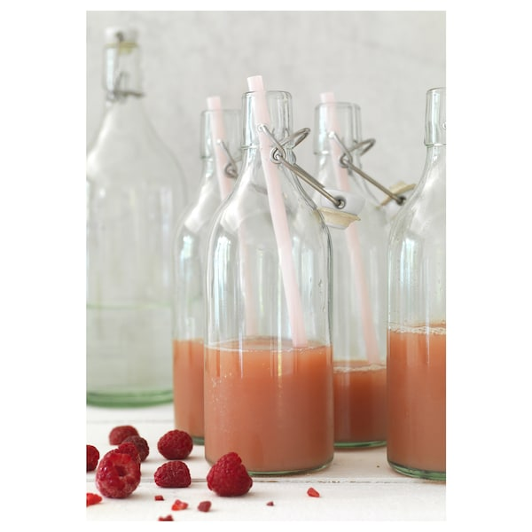 KORKEN Fles met beugelsluiting, helder glas, 0.5 l