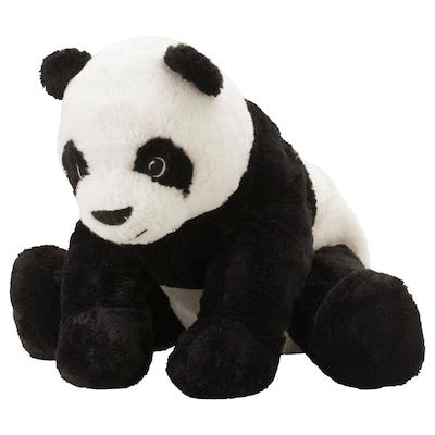 KRAMIG Pluchen speelgoed, wit/zwart