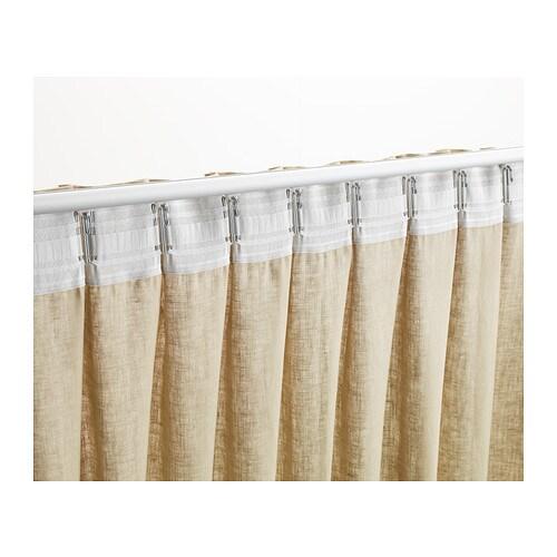 KRONILL Gordijnband Wit 8.5x310 cm - IKEA
